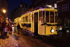 Eine Runde mit der Cottbuser Weihnachtsbahn